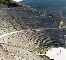 Ephesus Theater, Amphitheater Turkey, Asia by taiche