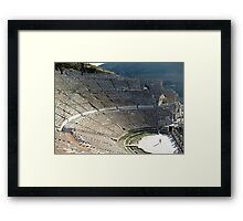 Ephesus Theater, Amphitheater Turkey, Asia Framed Print