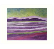 Abstract landscape Art Print