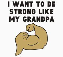 Strong Like My Grandpa Kids Tee
