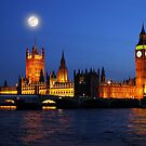 London&#x27;s Parliament and Big Ben by Mitchell Grosky