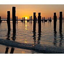 Watching the End of the Day... Reflect... Photographic Print