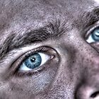Blue Eyes, HDR. by Sharlene Rens