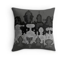 ROBOT CITY! Throw Pillow