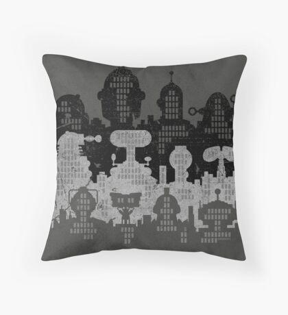 ROBOT CITY! Throw Pillow