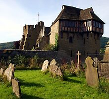 Stokesay Castle from the churchyard by John Dalkin