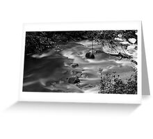 Flowing water b&w Greeting Card
