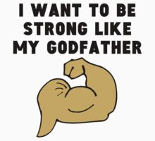 Strong Like My Godfather Kids Tee