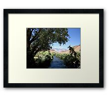 Cool Off By The River Framed Print