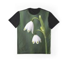 Snowdrops Painted Finger Nails Graphic T-Shirt