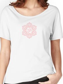 Pink Lotus Flower Yoga Om Women's Relaxed Fit T-Shirt