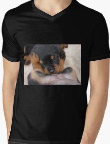 "Puppy Porn ....""The Bitches"" Mens V-Neck T-Shirt"