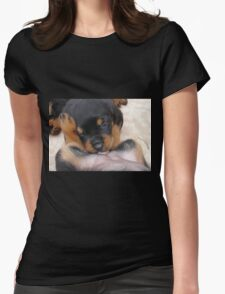 "Puppy Porn ....""The Bitches"" Womens Fitted T-Shirt"