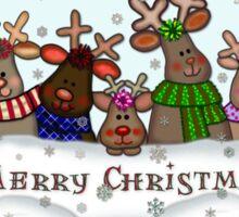 Will Work For Santa Reindeers Merry Christmas Cofee Mug Sticker