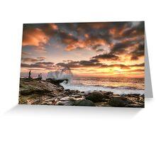 La Jolla Cove Sunset Greeting Card