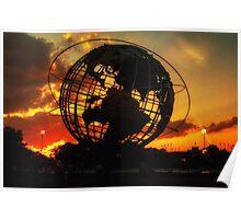 SUNSET IN CORONA PARK, NY Poster