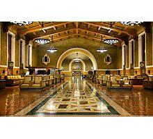 Los Angeles Union Station at Night Photographic Print