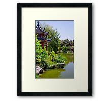 Chinese Pagoda on Lake Framed Print