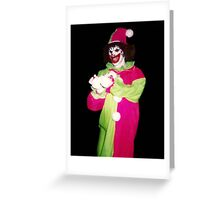 Silly clown Greeting Card
