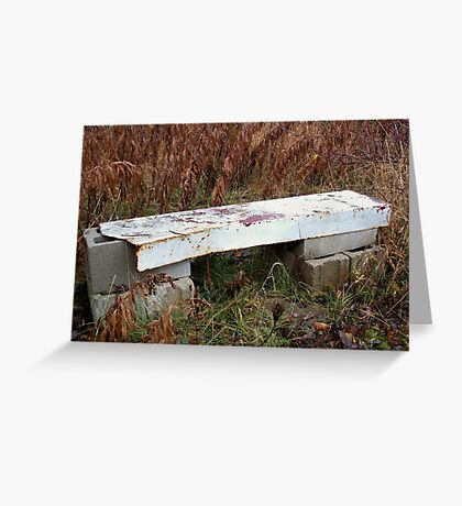 Unique Bench Greeting Card