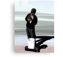 Jazz Man and His Shadow Canvas Print