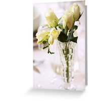 Pretty White Flowers Greeting Card