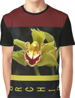 Wonderful Green Orchid Graphic T-Shirt
