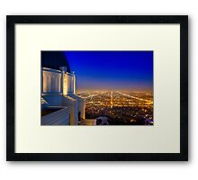 City from Above Framed Print