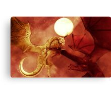 Dragon Fight Canvas Print