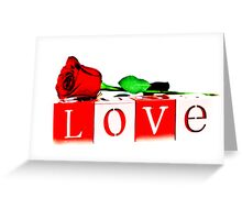 Valentine's Day Love Rose Greeting Card