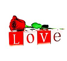 Valentine's Day Love Rose Photographic Print