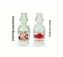 Antique Milk Bottle Art Print
