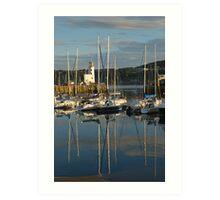 Harbour in evening light Art Print