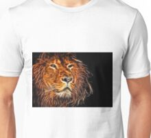 Neon Strong Proud Lion on Black Unisex T-Shirt
