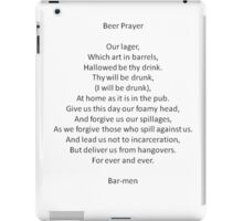 Barmen - Parody of the Lord's Prayer iPad Case/Skin
