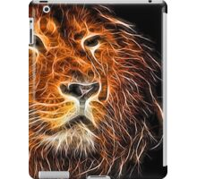 Neon Strong Proud Lion on Black iPad Case/Skin