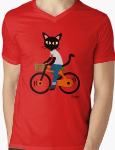 Summer cycling Mens V-Neck T-Shirt