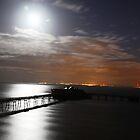 old weston super mare pier 3am by mark tabrett