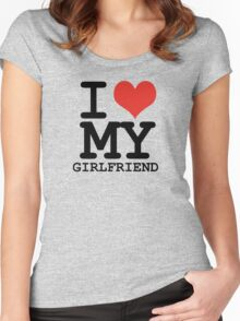 I love my girlfriend Women's Fitted Scoop T-Shirt