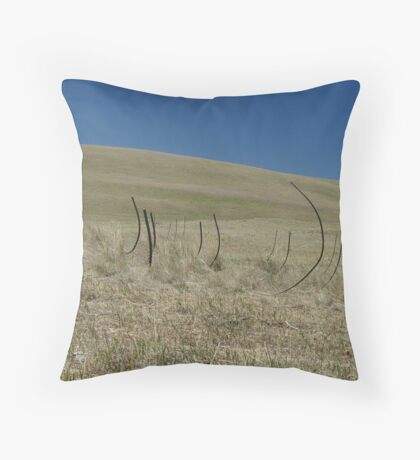RIBS - THE REMAINS OF A MOWER  Throw Pillow