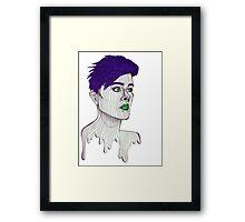 Distance Looker (Purple)  Framed Print