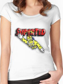 Super Ted Spotty Women's Fitted Scoop T-Shirt