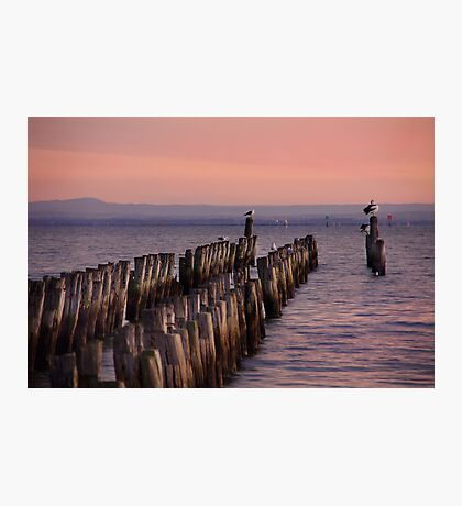 At the end of the jetty Photographic Print