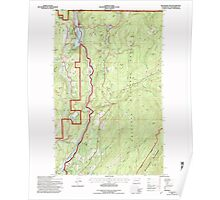 USGS Topo Map Washington State WA Boundary Dam 240170 1992 24000 Poster
