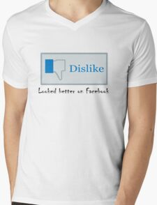 Looked better on Facebook Mens V-Neck T-Shirt