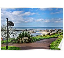 A View From The Gardens ~ Lyme Regis Poster