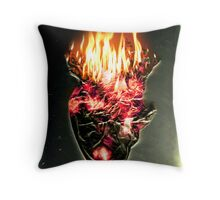 Fire, walk with me Throw Pillow