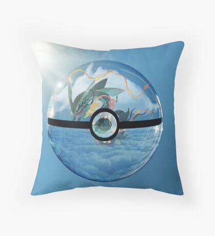 Rayquaza Pokeball Throw Pillow