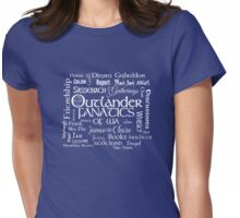 OFWA Word Cloud Logo White Womens Fitted T-Shirt