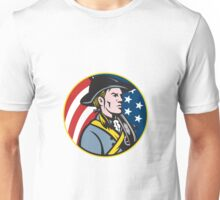American Patriot Minuteman With Flag Unisex T-Shirt